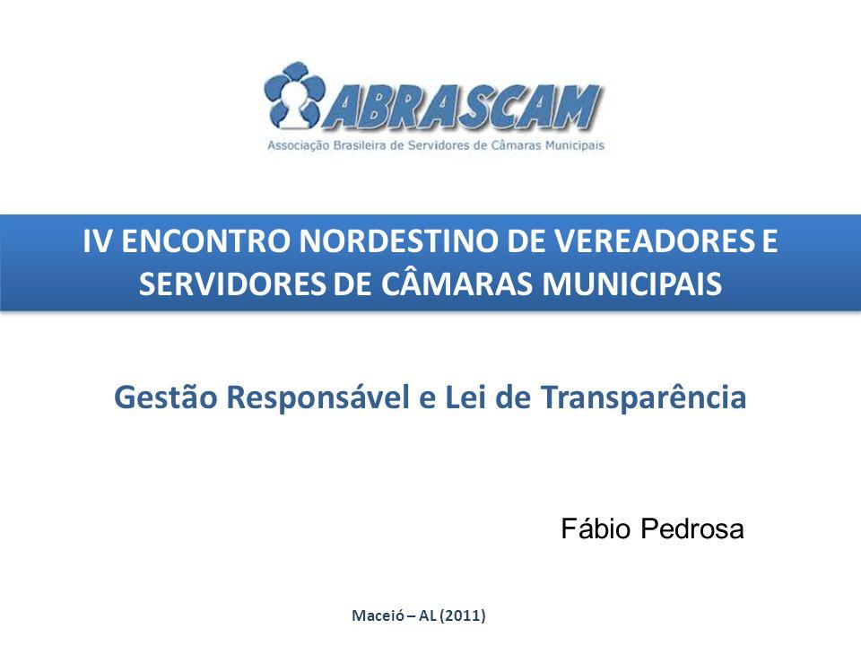 Gestão Responsável e Lei de Transparência