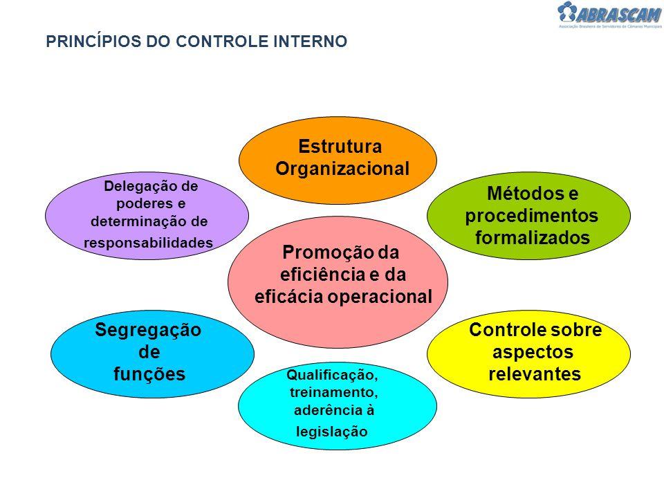 Estrutura Organizacional Métodos e procedimentos formalizados