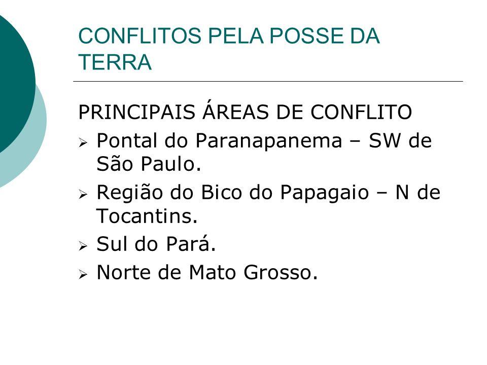 CONFLITOS PELA POSSE DA TERRA