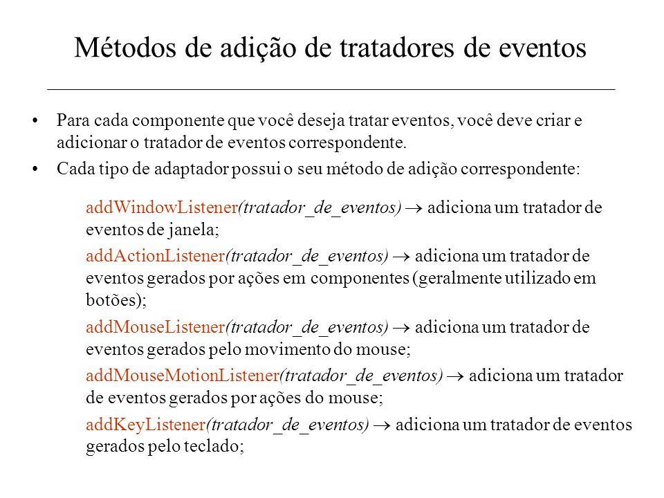 Métodos de adição de tratadores de eventos