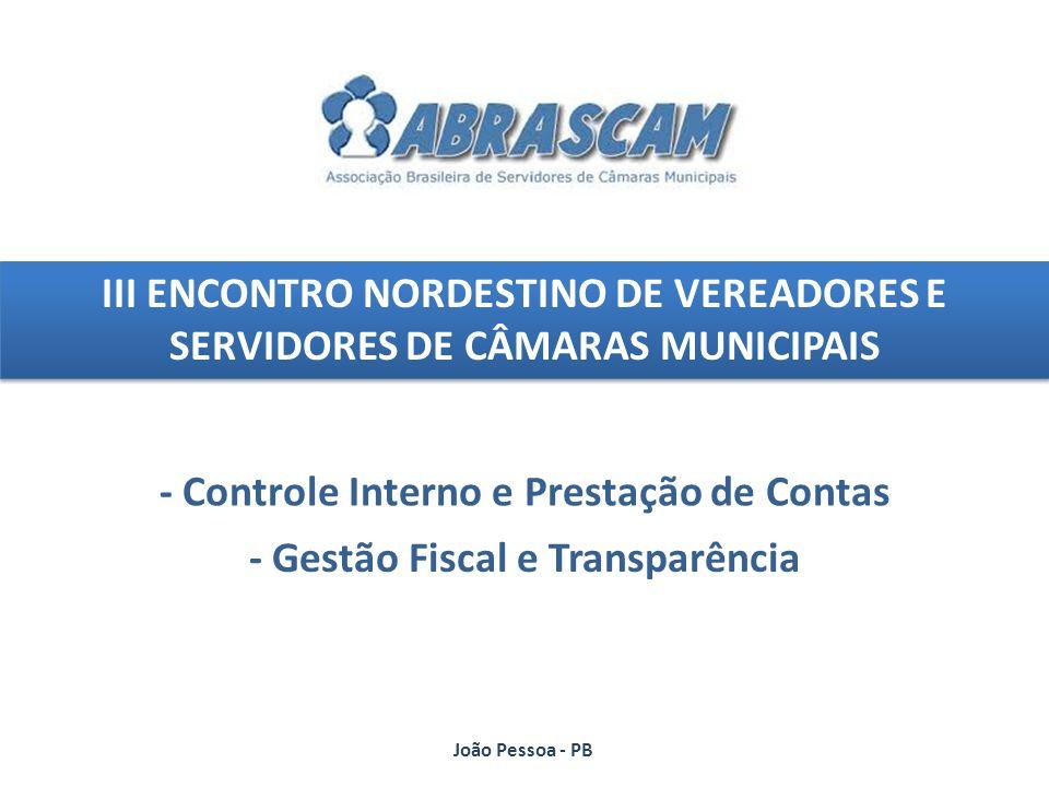 - Controle Interno e Prestação de Contas