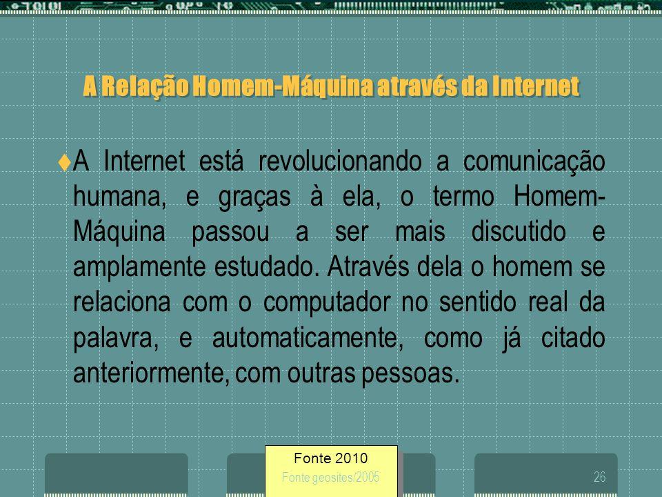 A Relação Homem-Máquina através da Internet