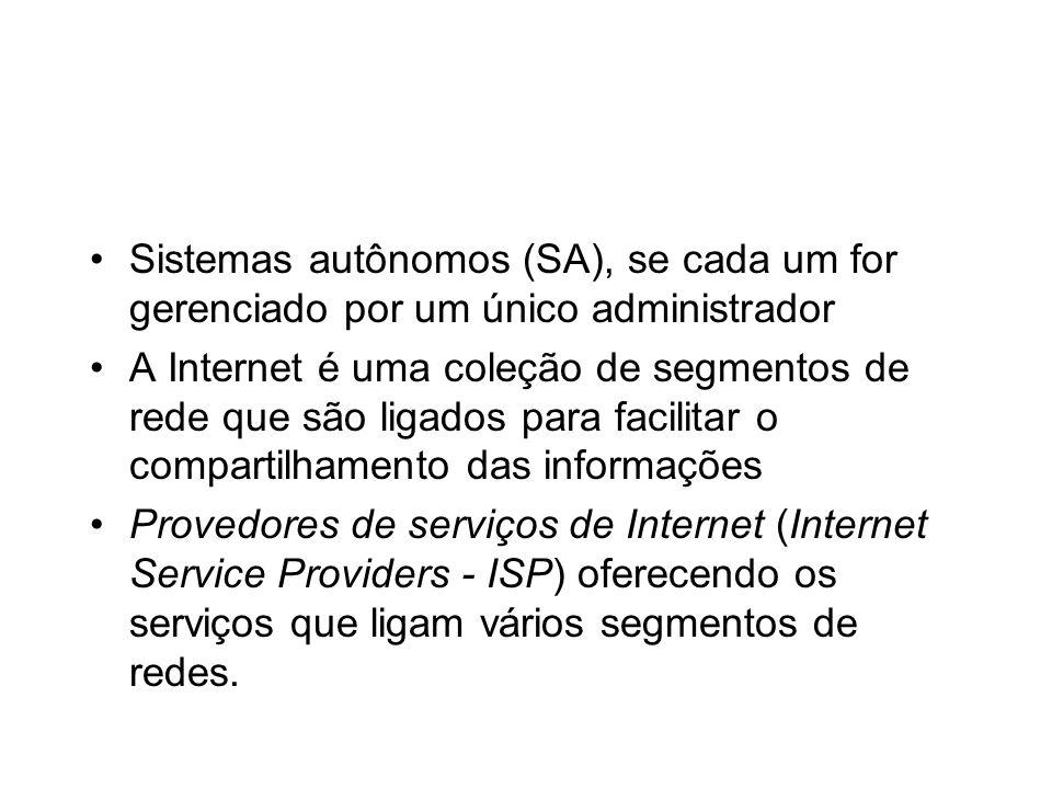 Sistemas autônomos (SA), se cada um for gerenciado por um único administrador