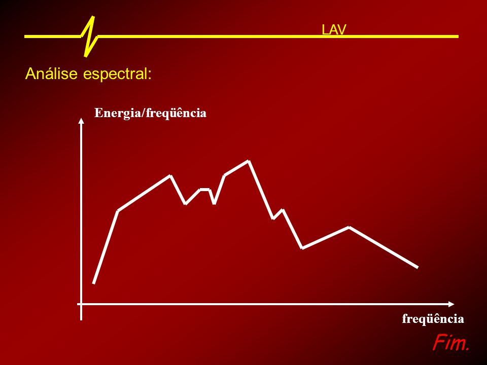 LAV Análise espectral: Energia/freqüência freqüência Fim.