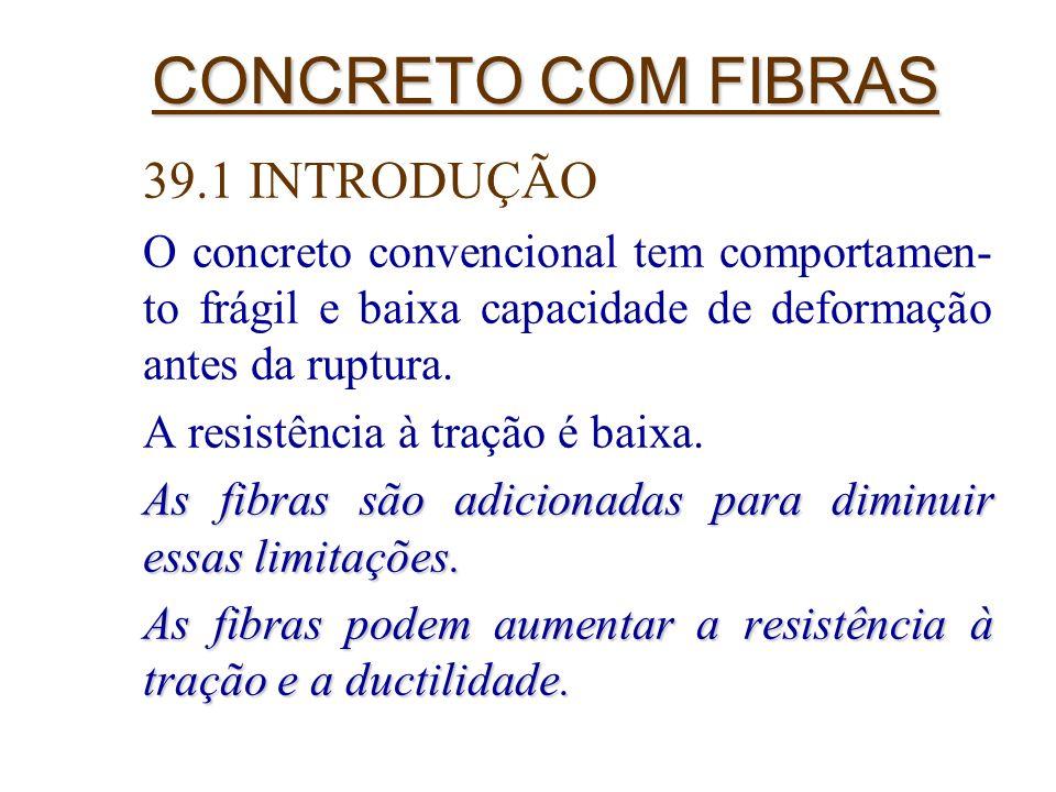 CONCRETO COM FIBRAS 39.1 INTRODUÇÃO