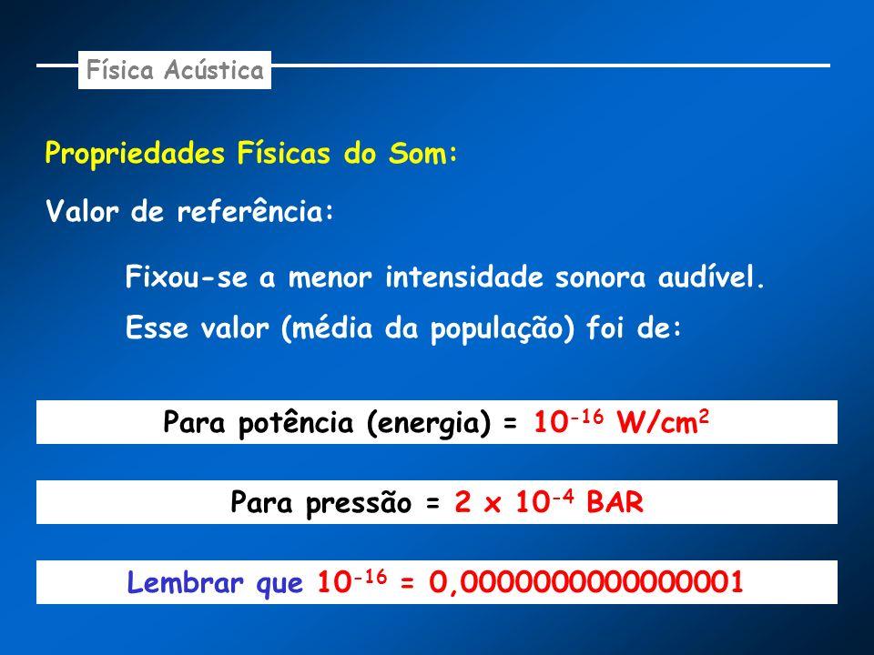 Para potência (energia) = 10-16 W/cm2