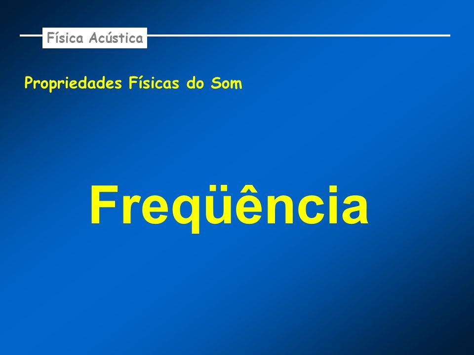 Física Acústica Propriedades Físicas do Som Freqüência