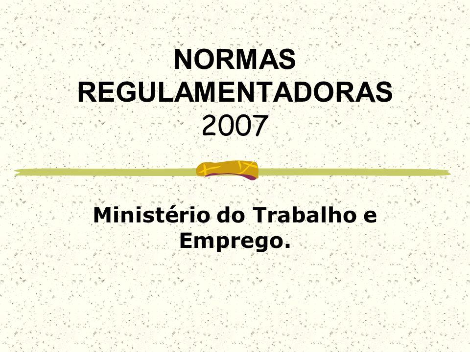 NORMAS REGULAMENTADORAS 2007