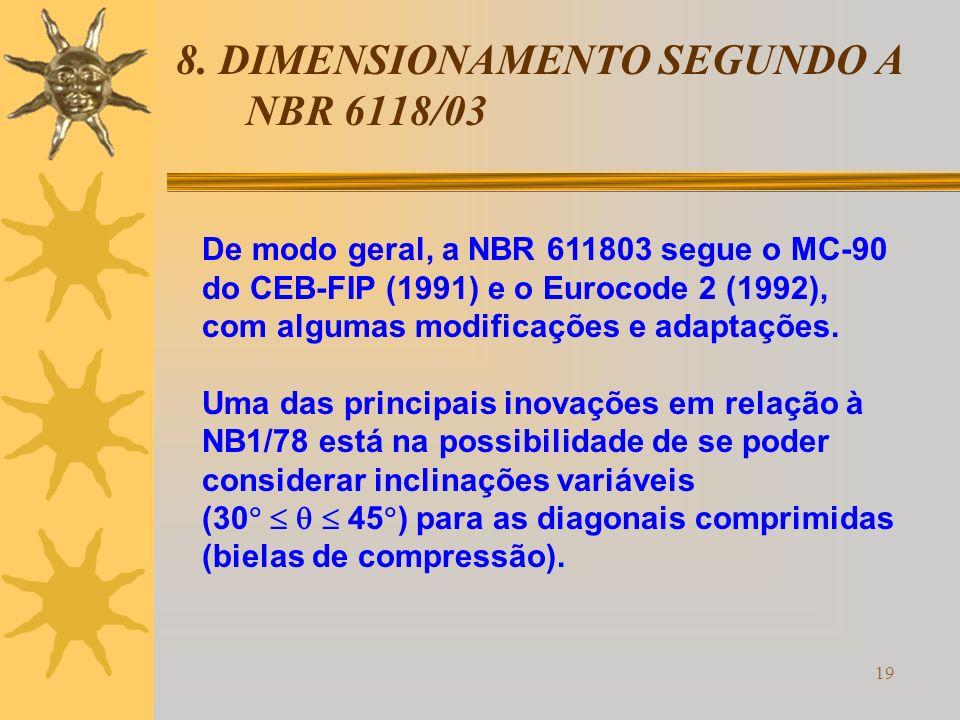 8. DIMENSIONAMENTO SEGUNDO A NBR 6118/03