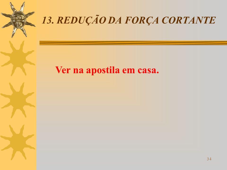 13. REDUÇÃO DA FORÇA CORTANTE