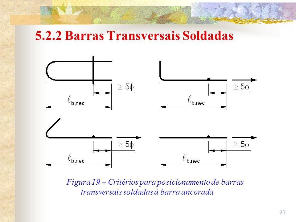 5.2.2 Barras Transversais Soldadas