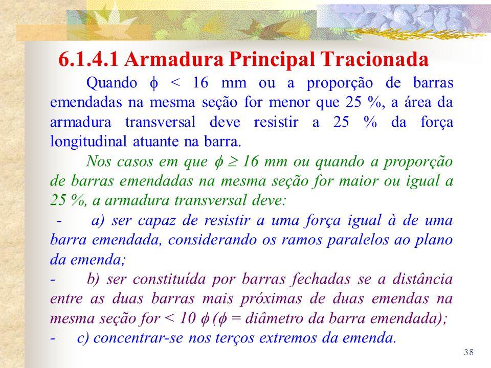 6.1.4.1 Armadura Principal Tracionada