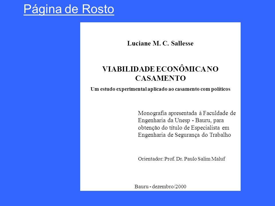VIABILIDADE ECONÔMICA NO CASAMENTO