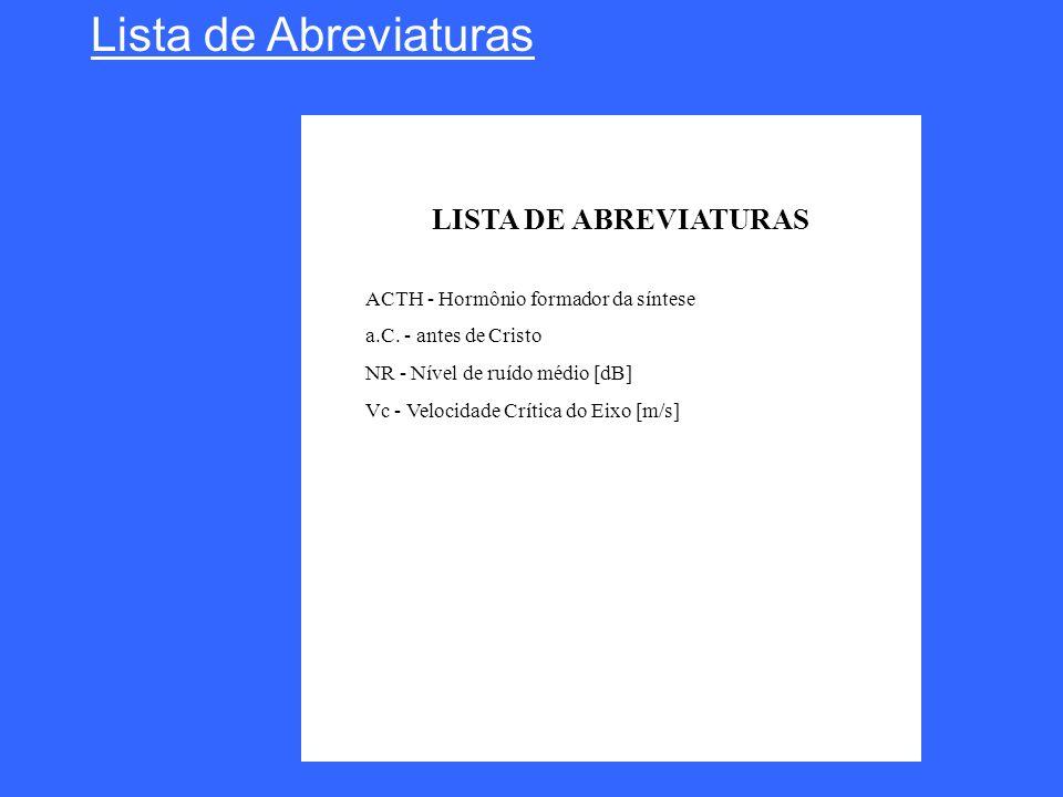 Lista de Abreviaturas LISTA DE ABREVIATURAS