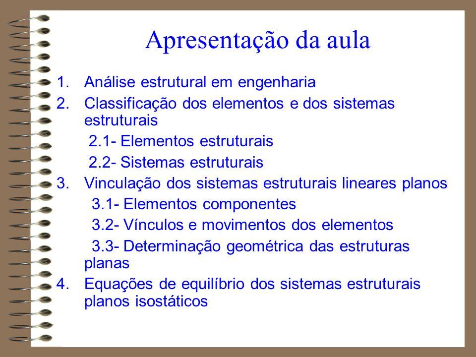 Apresentação da aula Análise estrutural em engenharia