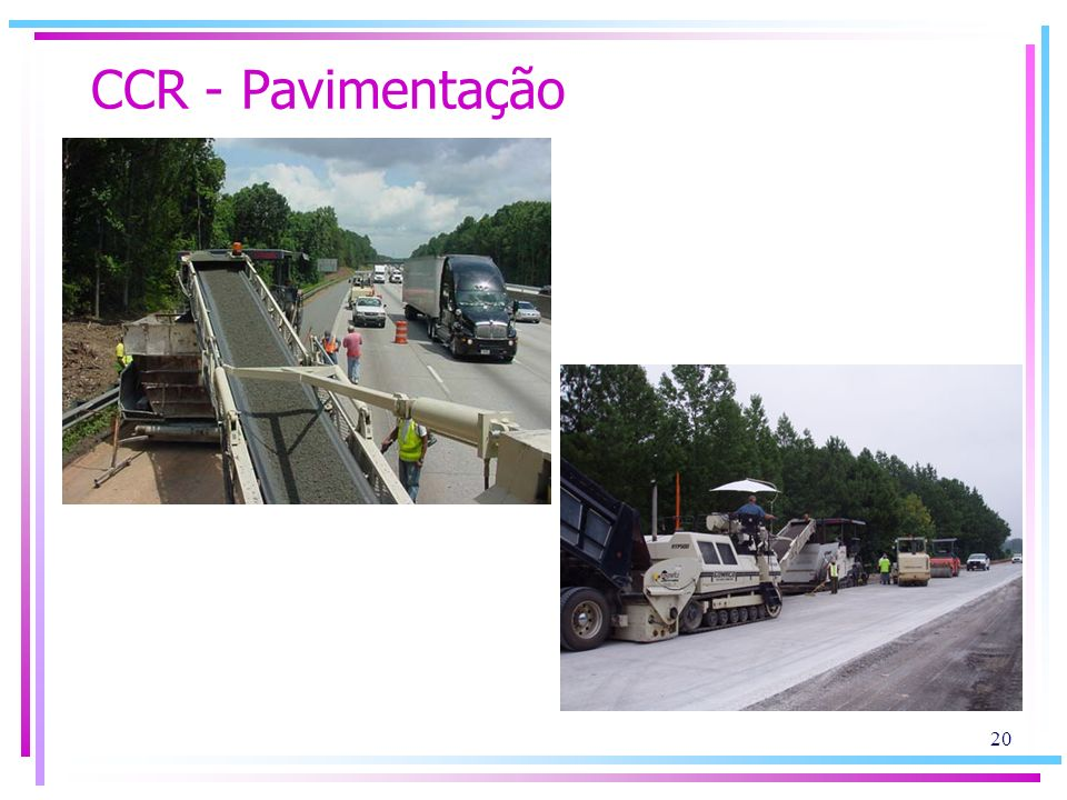 CCR - Pavimentação