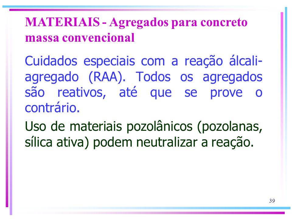 MATERIAIS - Agregados para concreto massa convencional