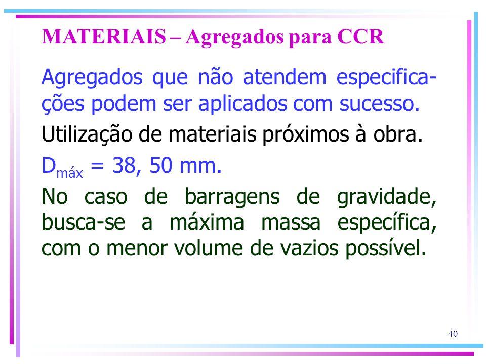 MATERIAIS – Agregados para CCR