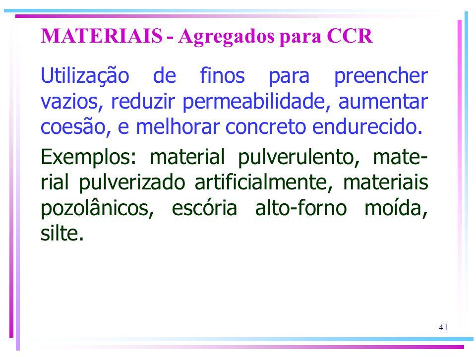 MATERIAIS - Agregados para CCR