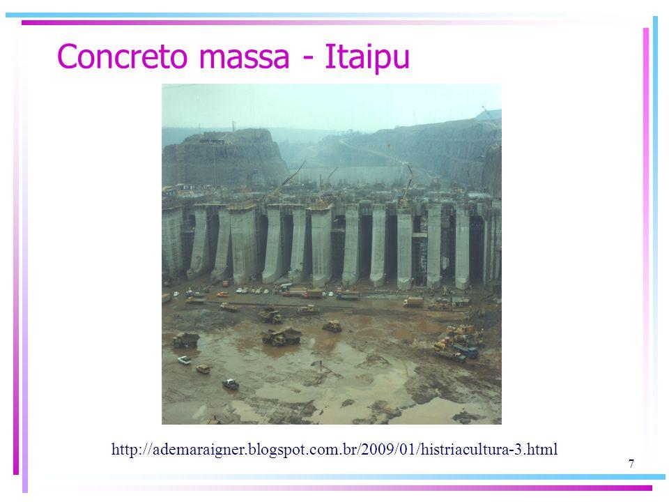 Concreto massa - Itaipu