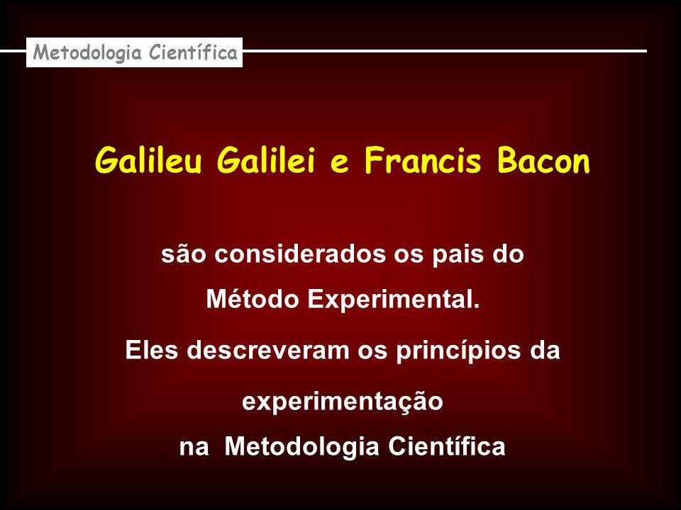 Galileu Galilei e Francis Bacon