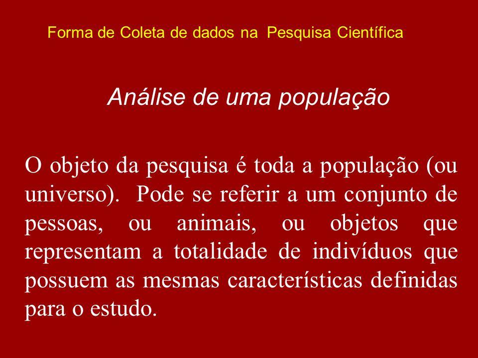 Análise de uma população