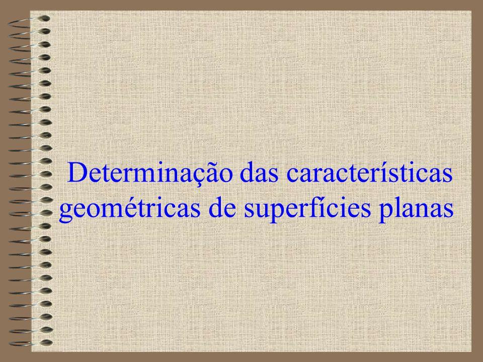 Determinação das características geométricas de superfícies planas