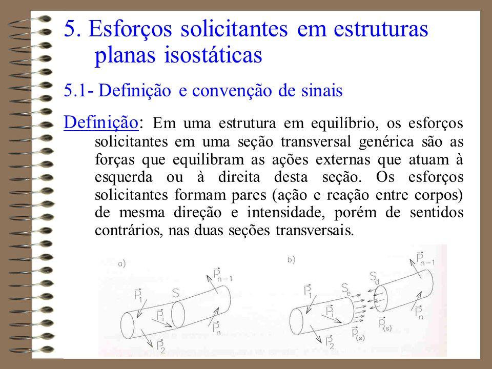 5. Esforços solicitantes em estruturas planas isostáticas