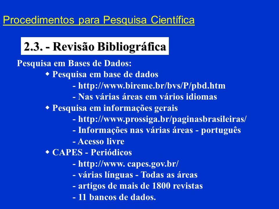 2.3. - Revisão Bibliográfica