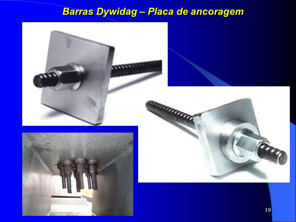 Barras Dywidag – Placa de ancoragem