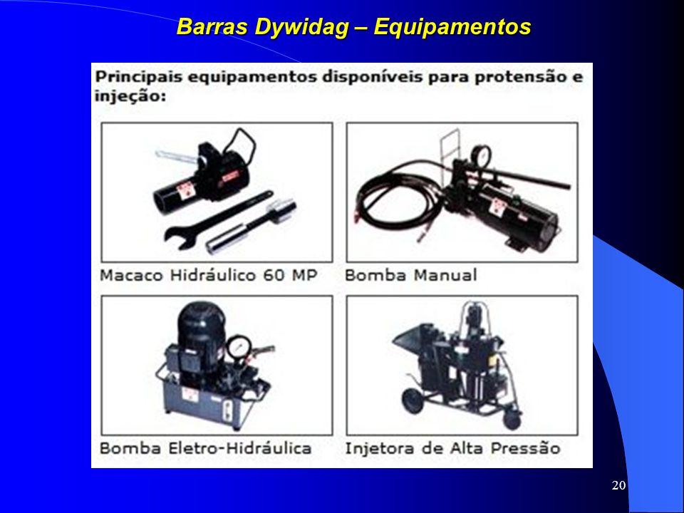 Barras Dywidag – Equipamentos