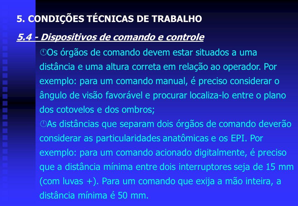 5. CONDIÇÕES TÉCNICAS DE TRABALHO