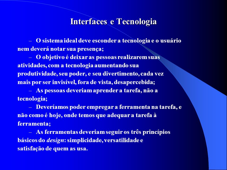 Interfaces e Tecnologia