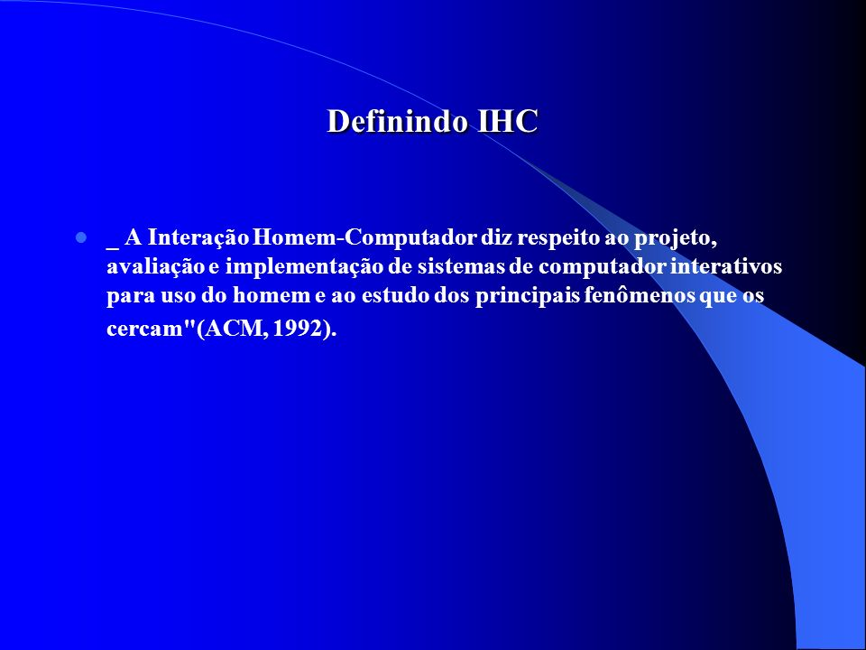 Definindo IHC