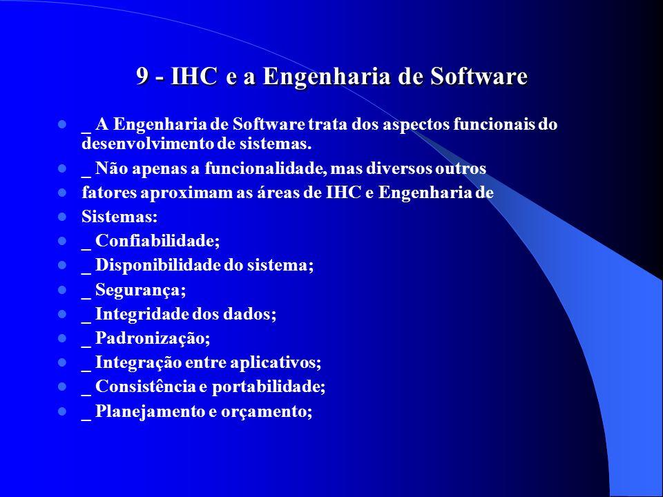 9 - IHC e a Engenharia de Software