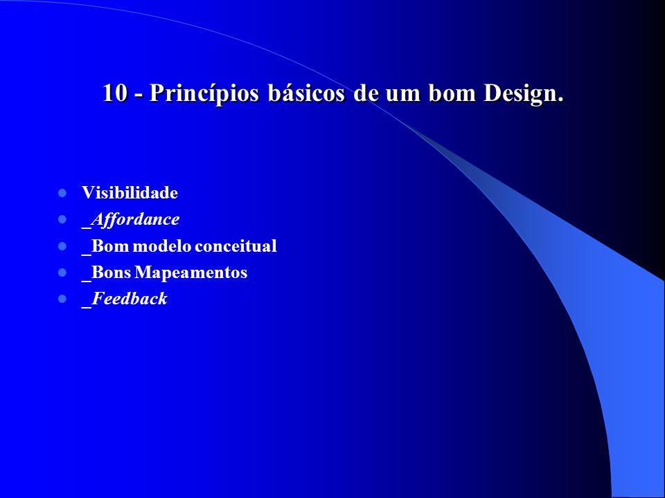10 - Princípios básicos de um bom Design.