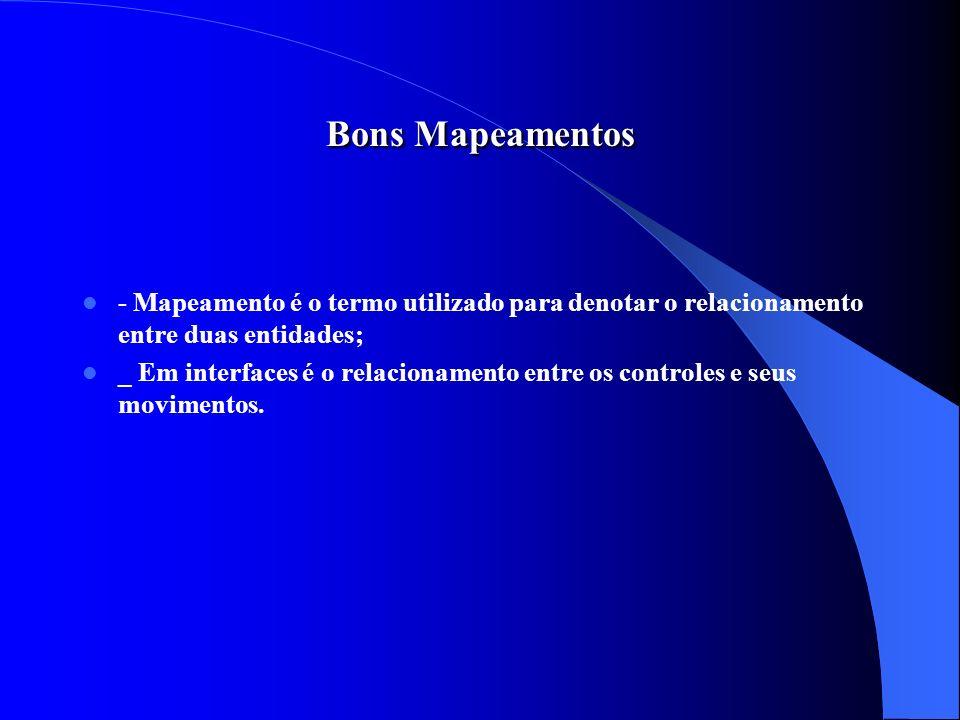 Bons Mapeamentos - Mapeamento é o termo utilizado para denotar o relacionamento entre duas entidades;