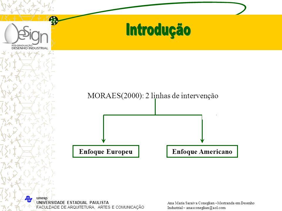Introdução MORAES(2000): 2 linhas de intervenção Enfoque Europeu