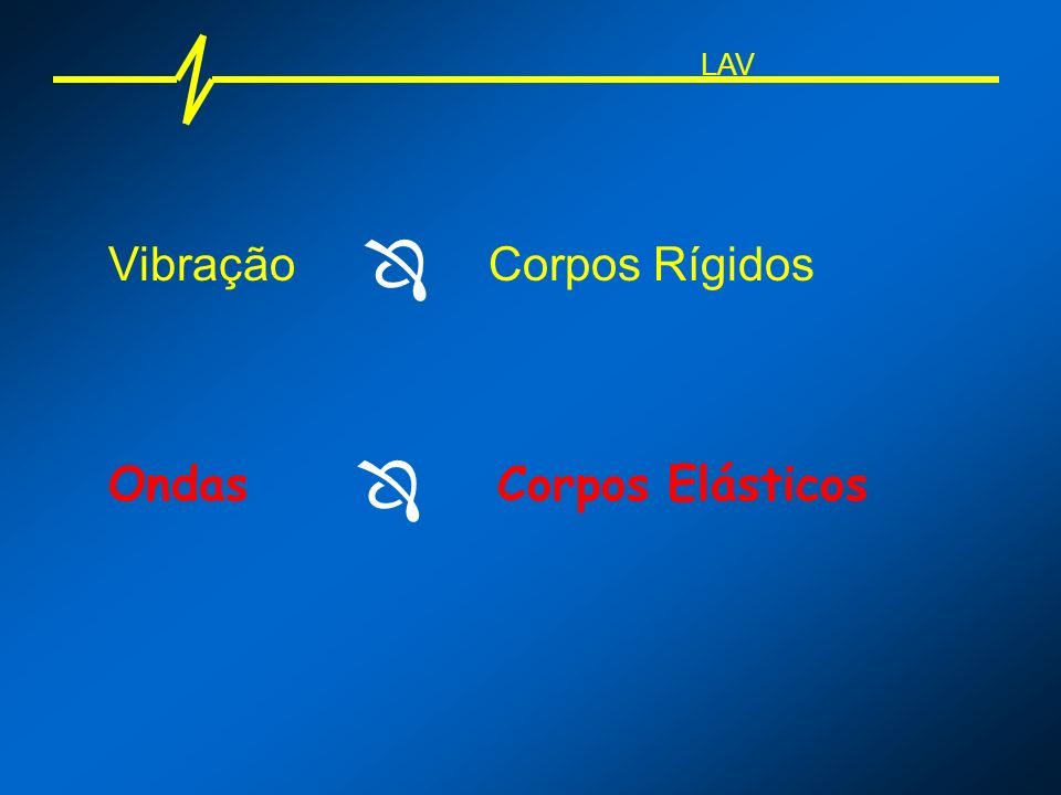 LAV  Vibração Corpos Rígidos  Ondas Corpos Elásticos