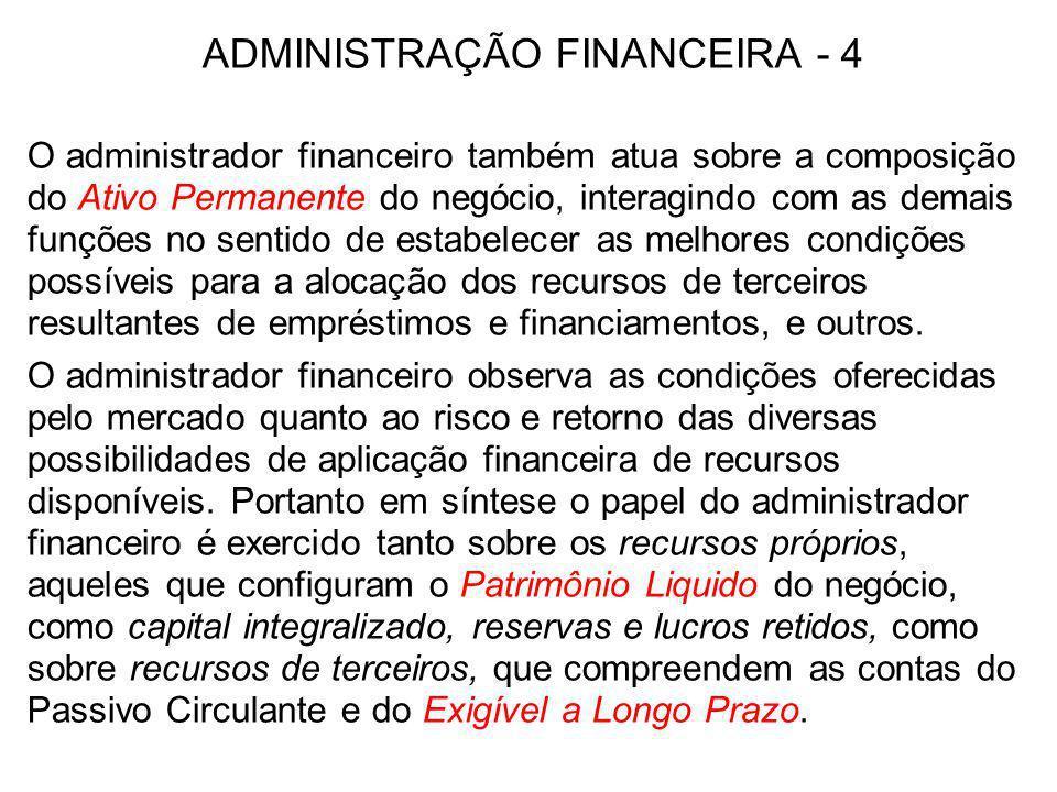 ADMINISTRAÇÃO FINANCEIRA - 4