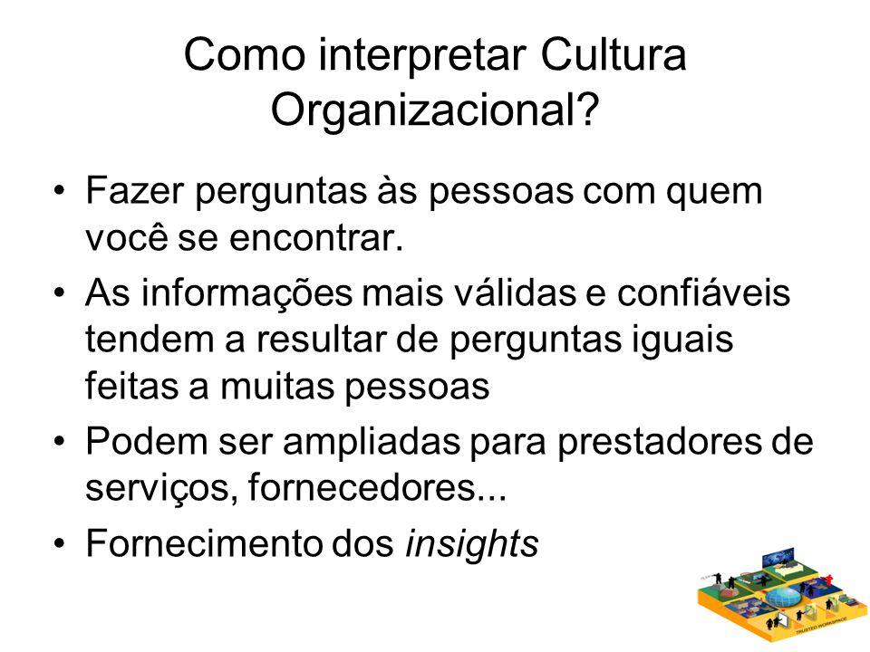 Como interpretar Cultura Organizacional