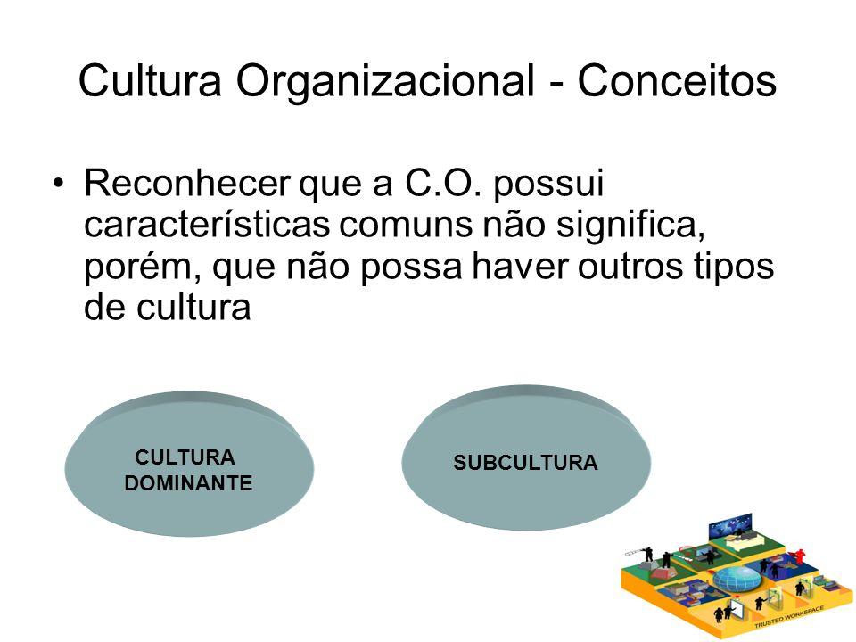 Cultura Organizacional - Conceitos