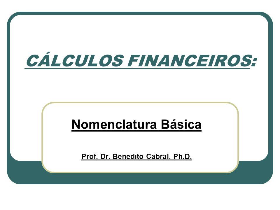 CÁLCULOS FINANCEIROS: