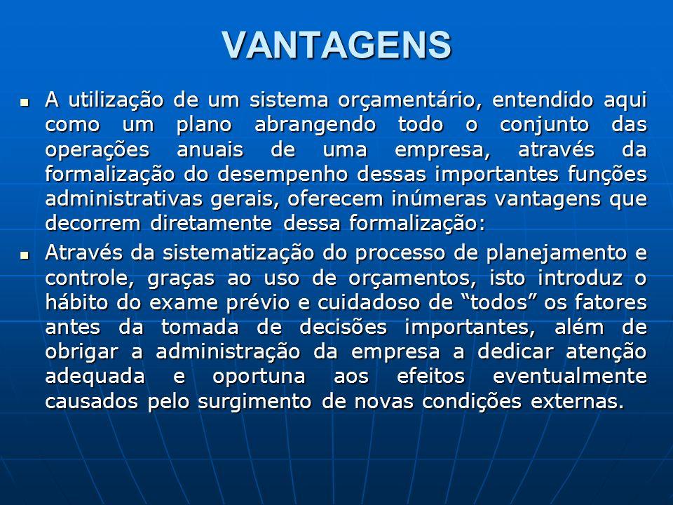 VANTAGENS