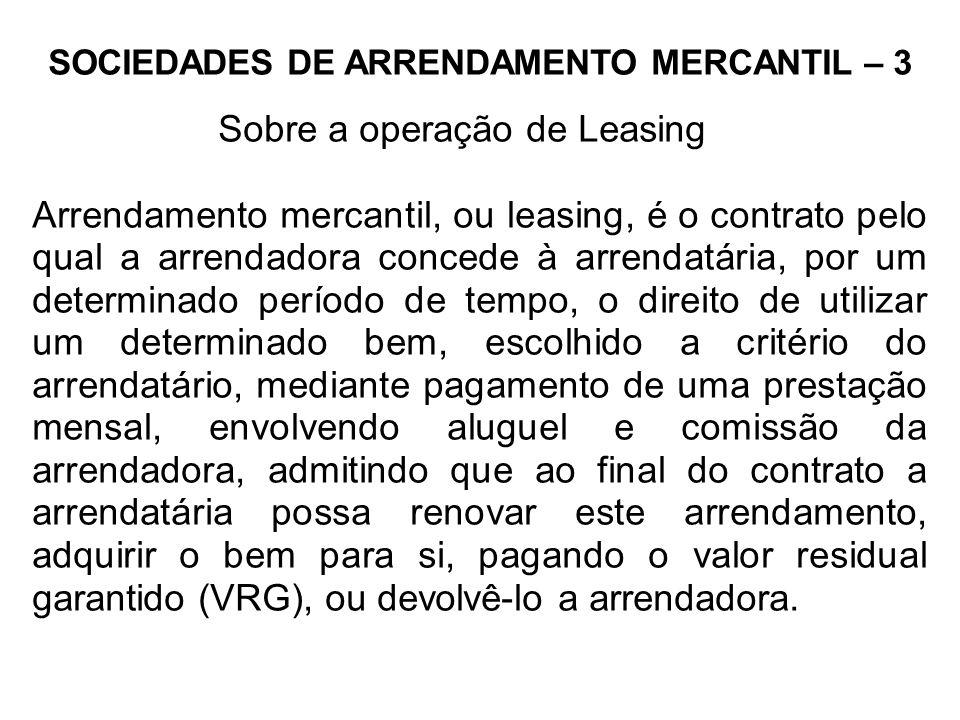 SOCIEDADES DE ARRENDAMENTO MERCANTIL – 3