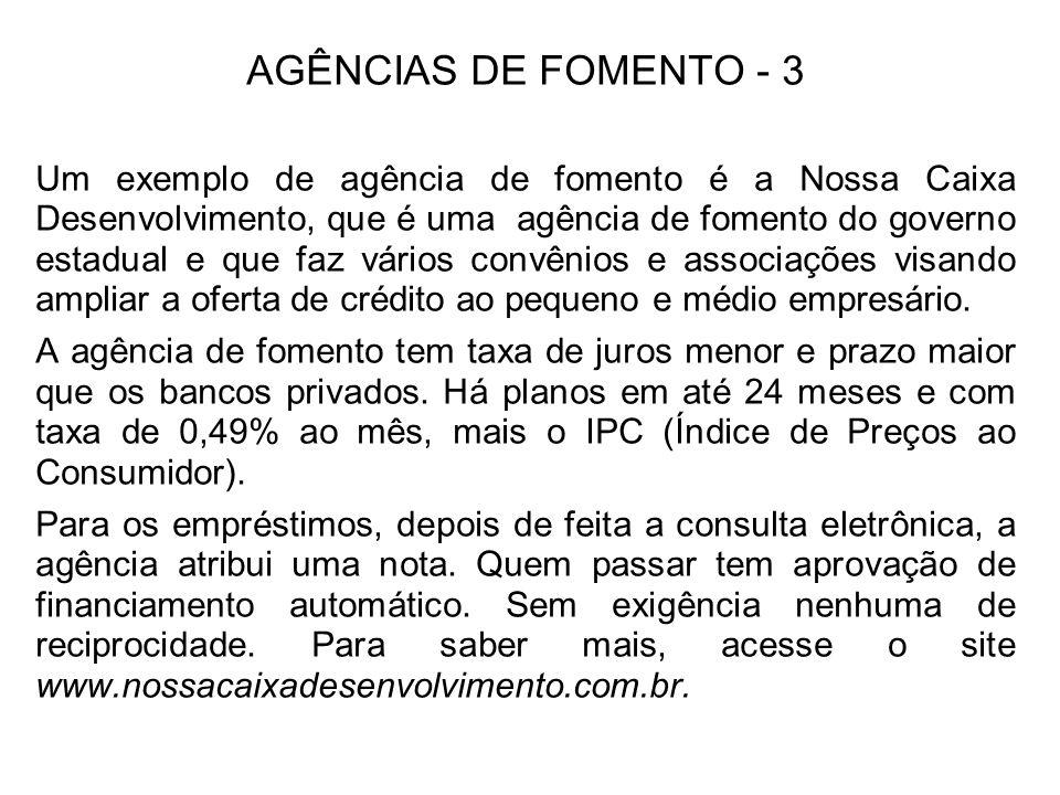 AGÊNCIAS DE FOMENTO - 3