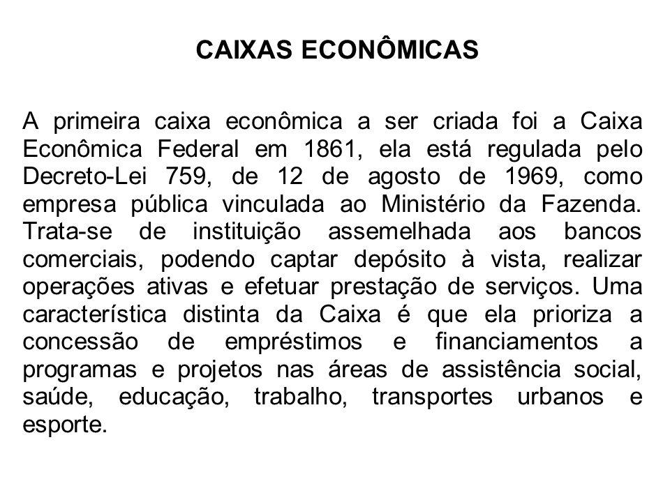 CAIXAS ECONÔMICAS