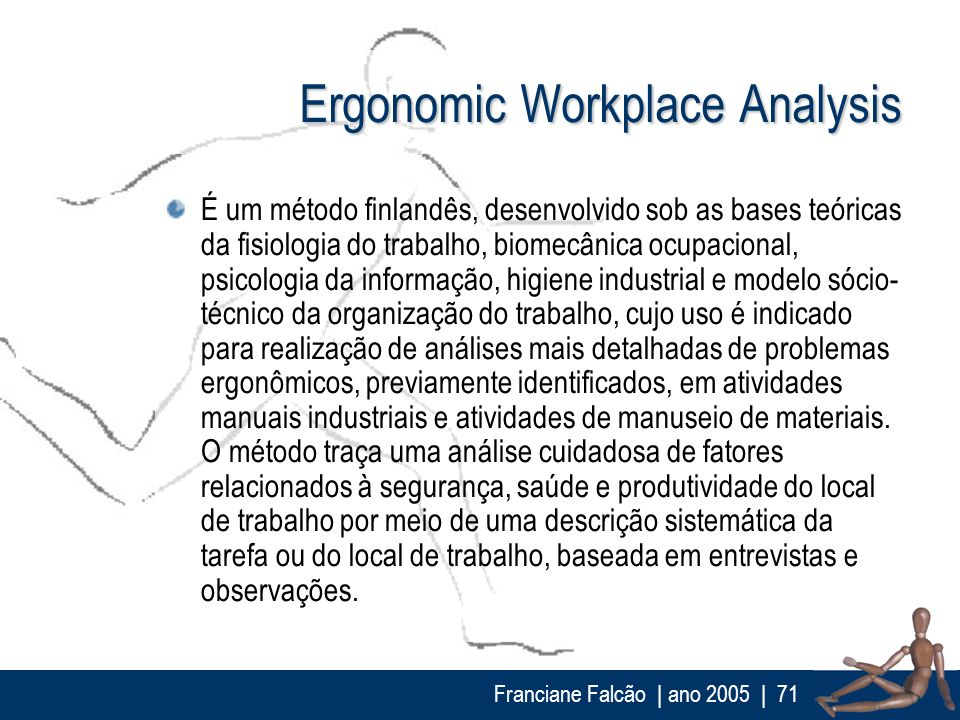 Ergonomic Workplace Analysis