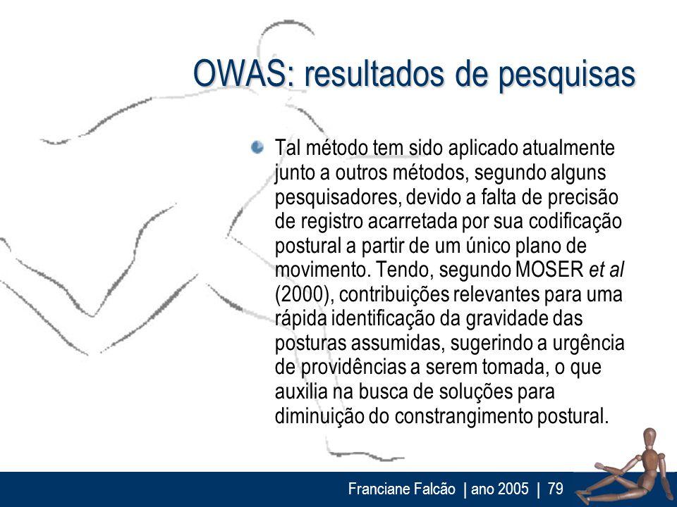 OWAS: resultados de pesquisas