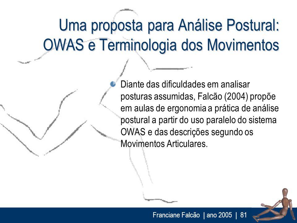 Uma proposta para Análise Postural: OWAS e Terminologia dos Movimentos